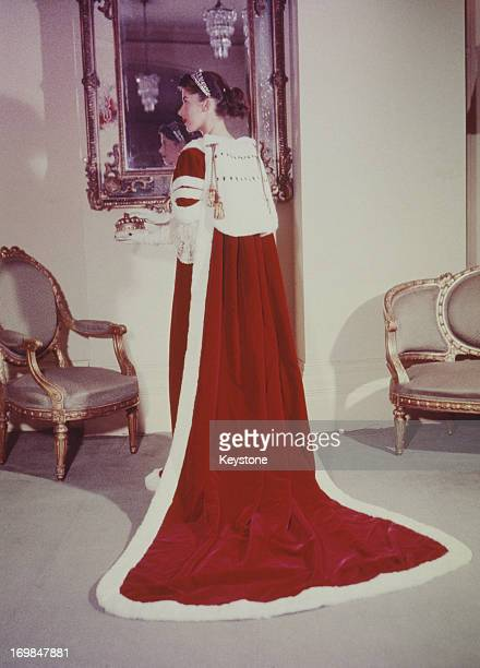 The Coronation Robe as worn by a Peeress for the Coronation of Queen Elizabeth II 1953