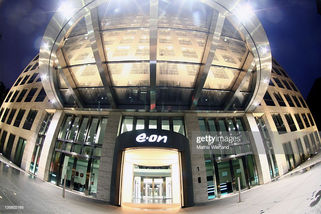 The corporate headquarters of E.ON AG, Germany's largest power company, stands illuminated on August 6, 2011 in Duesseldorf, Germany. The company recently announced it will cut 10,000 jobs worldwide, citing a loss of revenue stemming from the decision of the government of German Chancellor Angela Merkel to phase out nuclear energy. Germany has 17 nuclear power reactors, eight of which are operated by E.ON, that are scheduled to be phased out of operation by 2022.