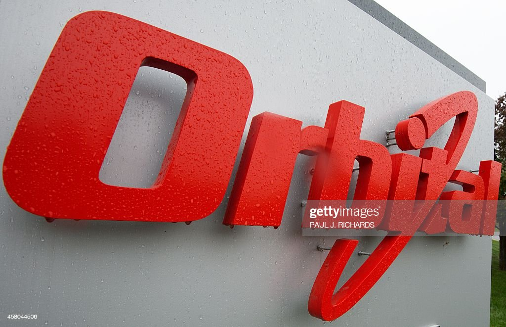 The corporate logo of Orbital Sciences Corporation is seen October 29 at their headquarters in Dulles Virginia AFP Photo/Paul J Richards