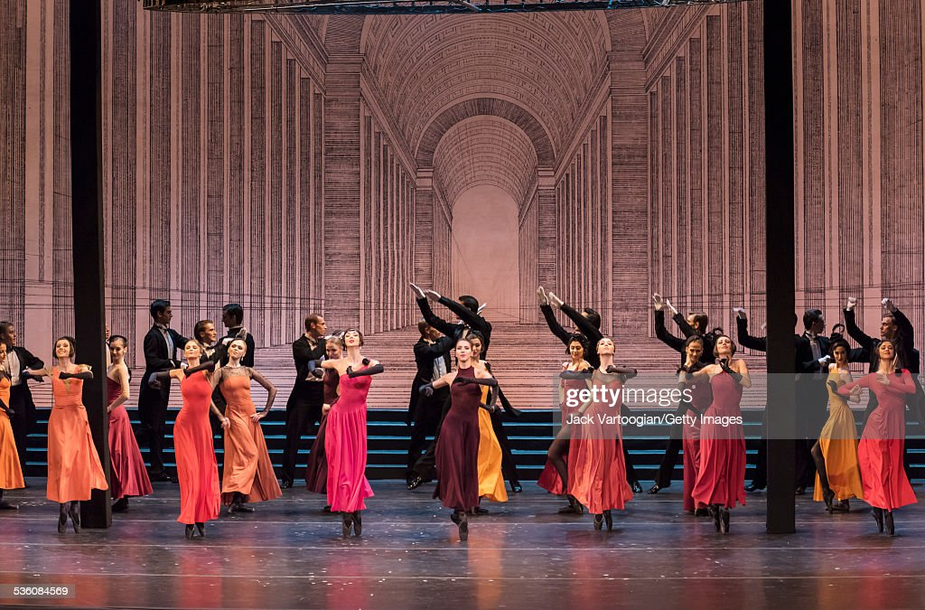 The Corps de Ballet perform in the Mariinsky Ballet production of 'Cinderella' at the BAM Howard Gilman Opera House Brooklyn New York New York...