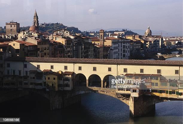 The corridor over the Ponte Vecchio in Italy in December 1998