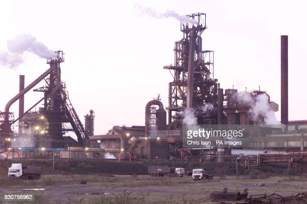 The Corus steelworks in Port Talbot South Wales after a man was killed last night in an explosion in blast furnace 5 13 others have been injured with...