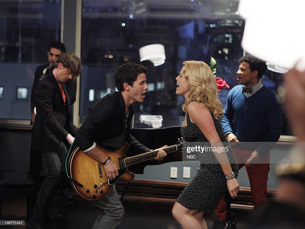 SMASH 'The Cost of Art' Episode 104 Pictured Christian Borle as Tom Levitt Nick Jonas as Lyle West Megan Hilty as Ivy Lynn Jaime Cepero as Ellis Boyd