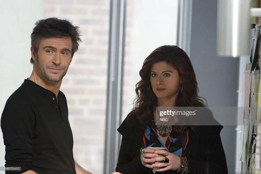 SMASH 'The Cost of Art' Episode 104 Pictured Jack Davenport as Derek Wills Debra Messing as Julia Houston