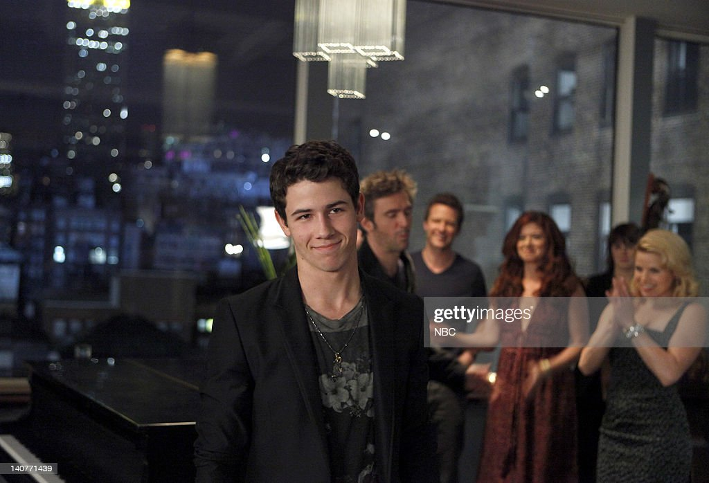 SMASH 'The Cost of Art' Episode 104 Pictured Nick Jonas as Lyle West Jack Davenport as Derek Wills Will Chase as Michael Swift Debra Messing as Julia...