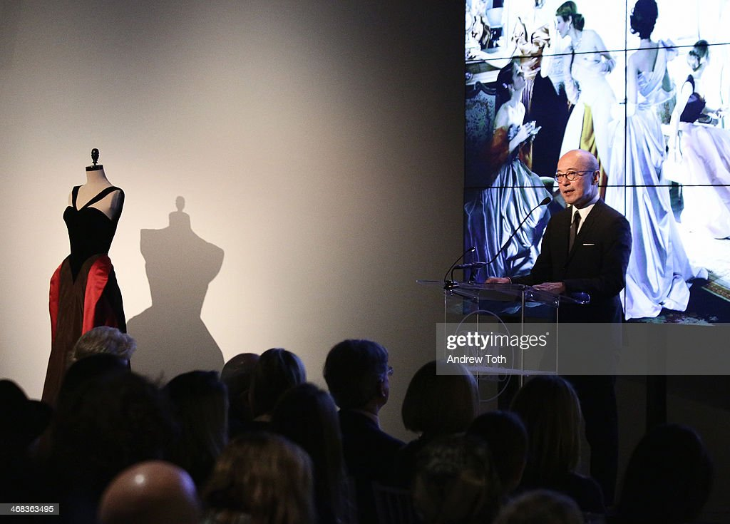 The Costume Institute Head Curator Harold Koda speaks during The Metropolitan Museum Of Art Presents: Charles James Exhibition press preview at Metropolitan Museum of Art on February 10, 2014 in New York City.