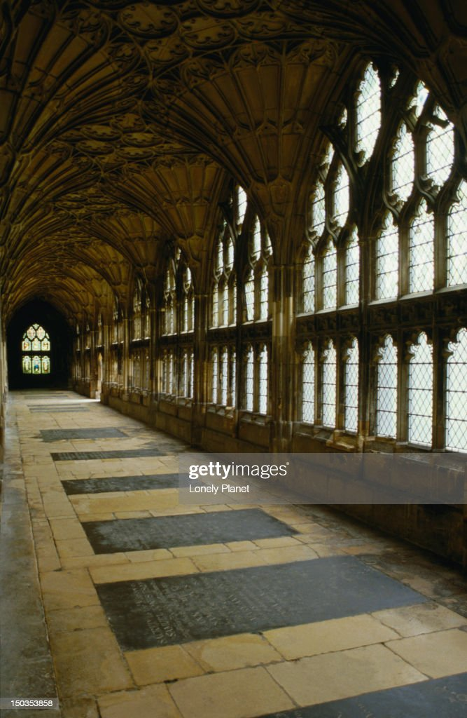 The Cotswolds: Inside the Gloucester Cathedral - England : Stock Photo
