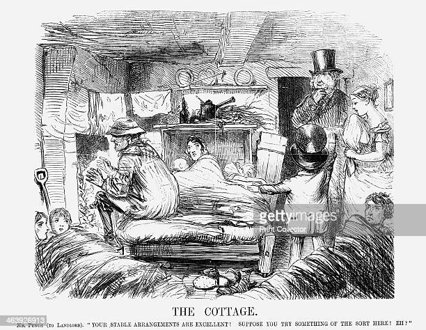 'The Cottage' The man warming his hands at the fire is a rural worker This one room has to provide living and sleeping accommodation for his wife and...