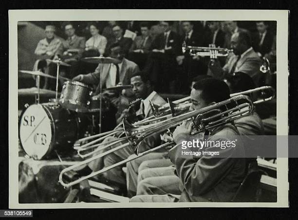 The Count Basie Orchestra in concert c1950s The drummer is Sonny Payne Artist Denis Williams