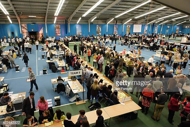 The count is well underway at Sunderland which for the five past elections has been the first to count the votes and declare its winners on May 7...