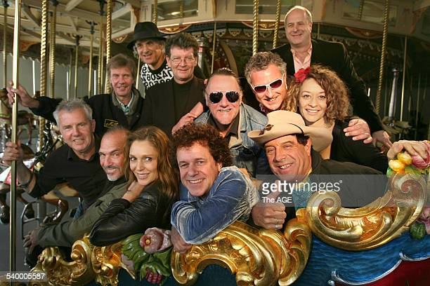 The Countdown Spectacular launch at Luna Park Darryl Braithwaite Joe Camilleri Totti Goldsmith Leo Sayer Ian Molly Meldrum Eve Von Bibra Ross Wilson...