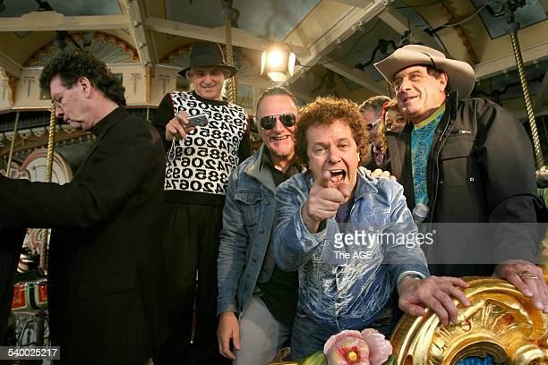 The Countdown Spectacular launch at Luna Park Red Symons Joe Dolce Wilbur Wilde Leo Sayer and Ian Molly Meldrum pose on 17th May 2006 THE AGE NEWS...