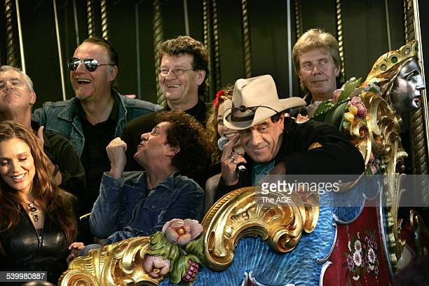 The Countdown Spectacular launch at Luna Park Totti Goldsmith Darryl Braithwaite Wilbur Wilde Red Symons Leo Sayer Eve Von Bibra Ian Molly Meldrum...