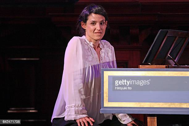 The countertenor Andreas Scholl accompanied by Tamar Halperin on harpsichord performing at Park Avenue Armory on Saturday night May 21 2016 Program...