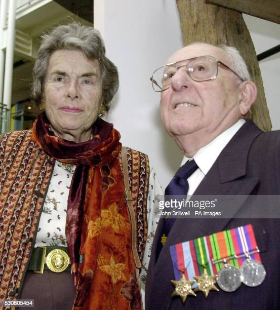 The Countess Mountbatten and David Arkush aged 87 who was a dentist in a Japanese prisoner of war camp and worker on the infamous BurmaThailand...