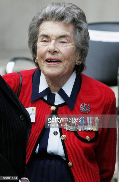 The Countess Mountbatten of Burma is seen as World War II veterans gather to commemorate the 6oth anniversary of VJ Day which marked the end of the...