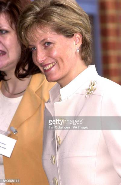 The Countess of Wessex arriving at the Disability Initiative Resource Centre in Camberley It is her and the Earl's first public engagement since...