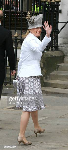 The Countess Of Wessex Attends The Wedding Of Hrh The Prince Of Wales Mrs Camilla Parker Bowles At The Guildhall Windsor