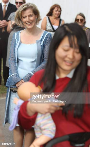 The Countess of Wessex during a visit to Whitton School and Sports College in Twickenham to see the work of charity Straight Talking which helps...