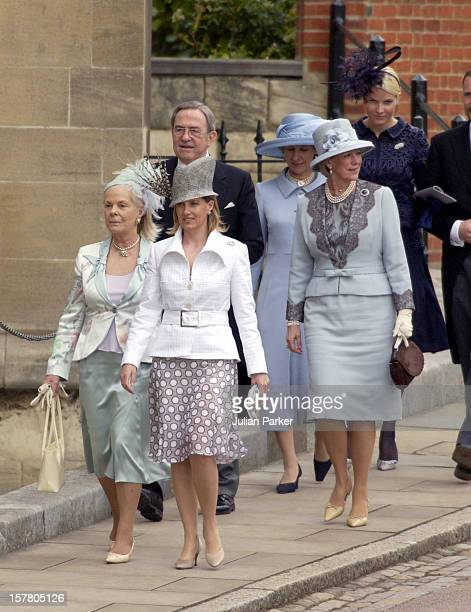 The Countess Of Wessex King Constantine Queen Anne Marie Greece The Duchess Of Kent And Crown Princess MetteMarit Of Norway Attend The Wedding Of Hrh...