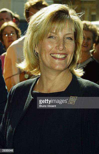 The Countess Of Wessex poses for photographers at her first engagement as president of the Girlguiding Association at their headquarters September 25...