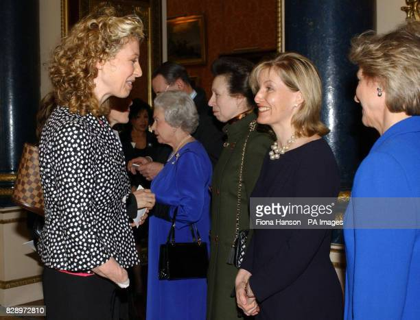 The Countess of Wessex talks to Lawyer Olivia Giles who had her arms and legs amputated after contracting meningococcal septicaemia at a reception...