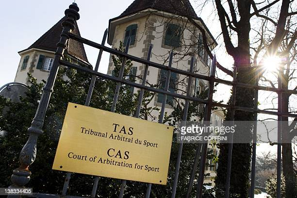 The Court of Arbitration for Sport headquarters are seen on February 6 2012 in Lausanne The Court suspended Spanish cyclist Alberto Contador for two...