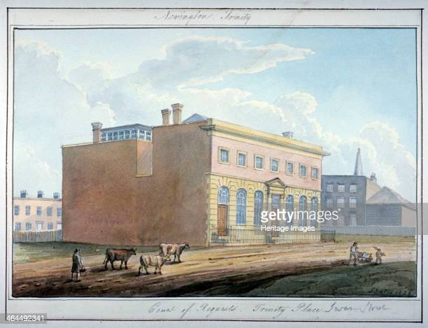 The Court of Requests Trinity Place Southwark London 1826 View with figures and cattle in the foreground