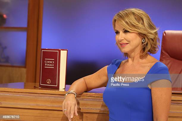 The court show weblog Rai1 led by Monica Leofreddi during transmission 'Right or Wrong' Rai 1 is the flagship television channel of Rai Italy's...