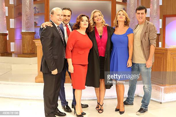 The court show weblog Rai1 led by Monica Leofreddi with the other celebrities during transmission 'Right or Wrong' Rai 1 is the flagship television...