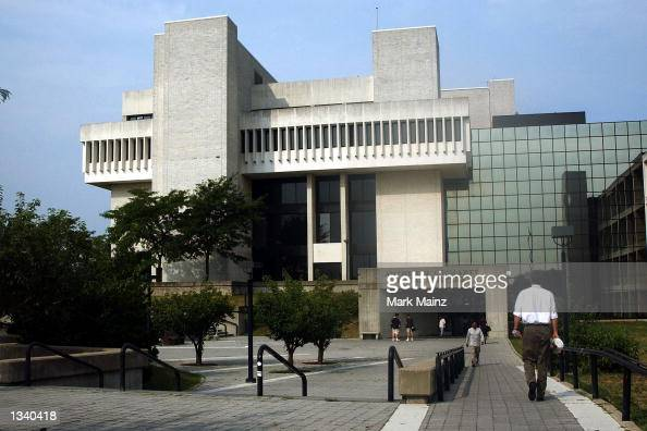 The courthouse where Lizzie Grubman will face criminal charges is seen August 16 2002 in Riverhead New York The socialite is accused of reversing her...