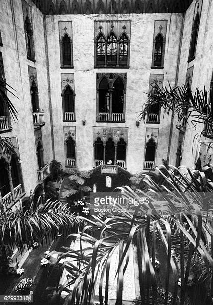 The courtyard at the Isabella Stewart Gardner Museum in Boston on Jan 3 1989