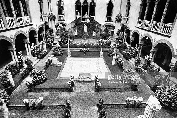 The courtyard at the Isabella Stewart Gardner Museum in Boston on Nov 4 1976