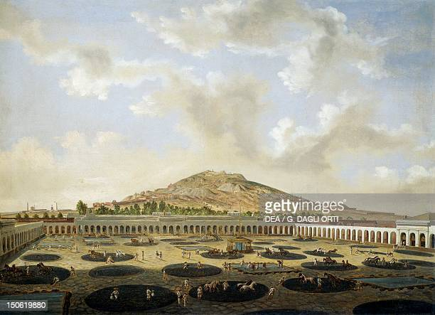 The courtyard of a mining company in Zacatecas 1840 by Pedro Gualdi Mexico19th century