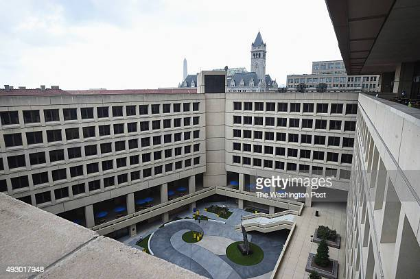 The courtyard within the J Edgar Hoover Building which is the headquarters of the FBI is seen during a tour on Thursday August 20 2015 in Washington...
