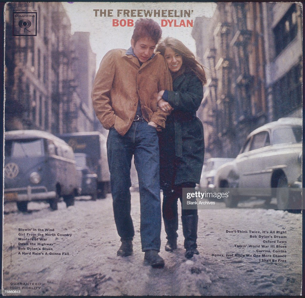 The cover for the Bob Dylan album 'The Freewheelin' Bob Dylan' released by Columbia Records in 1963 The cover features Dylan and his girlfriend Suze...