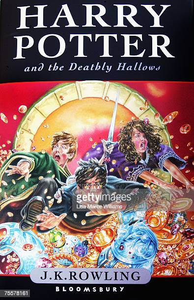 The cover image of the final novel by author JK Rowling 'Harry Potter and the Deathly Hallows July 21 2007 in Sydney Australia Rowlings announced...