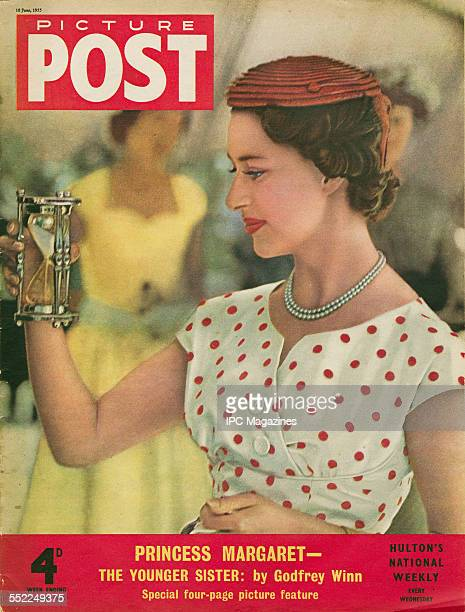 The cover of the 18th June 1955 issue of Picture Post magazine featuring a portrait of Princess Margaret during her tour of the Caribbean Inside is a...