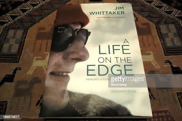 The cover of the book 'A Life on the Edge Memoirs of Everest and Beyond' by Jim Whittaker is displayed at an undisclosed location on Thursday April 4...