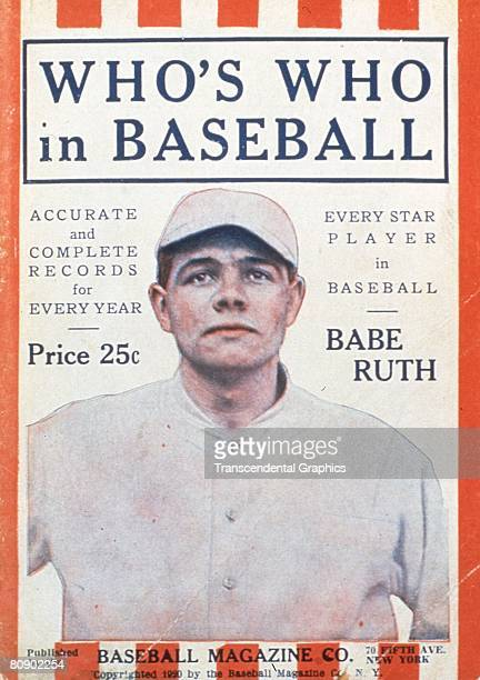 The cover of Who's Who in Baseball shows a portrait of George Herman 'Babe' Ruth