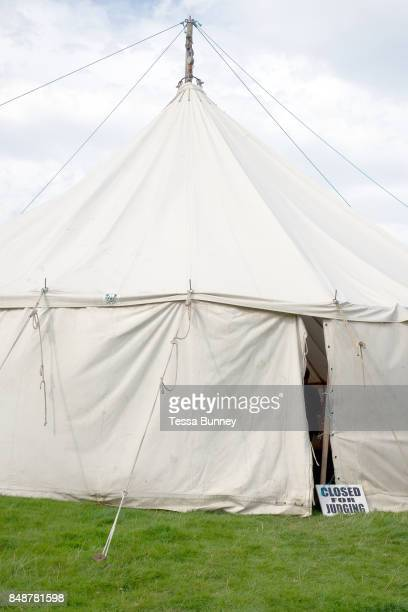 The craft tent at Farndale Show closed for judging on 28th August 2017 in North Yorkshire United Kingdom Farndale Show is a small traditional...