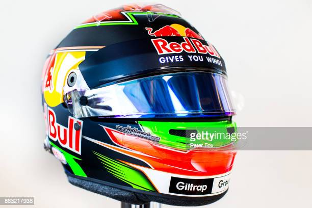 The crash helmet of Brendon Hartley of Scuderia Toro Rosso and New Zealand during previews ahead of the United States Formula One Grand Prix at...