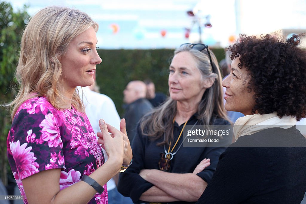 'The Crash Reel' Director/Producer <a gi-track='captionPersonalityLinkClicked' href=/galleries/search?phrase=Lucy+Walker&family=editorial&specificpeople=3079373 ng-click='$event.stopPropagation()'>Lucy Walker</a>, Film Independent Chair of the Board of Directors Mary Sweeney and LAFF Director <a gi-track='captionPersonalityLinkClicked' href=/galleries/search?phrase=Stephanie+Allain&family=editorial&specificpeople=2079610 ng-click='$event.stopPropagation()'>Stephanie Allain</a> attend the HBO Docs Reception during the 2013 Los Angeles Film Festival at L.A. Live Event Deck on June 16, 2013 in Los Angeles, California.