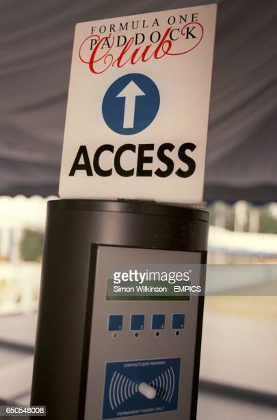 The credit card access machine to the paddock club at Monza
