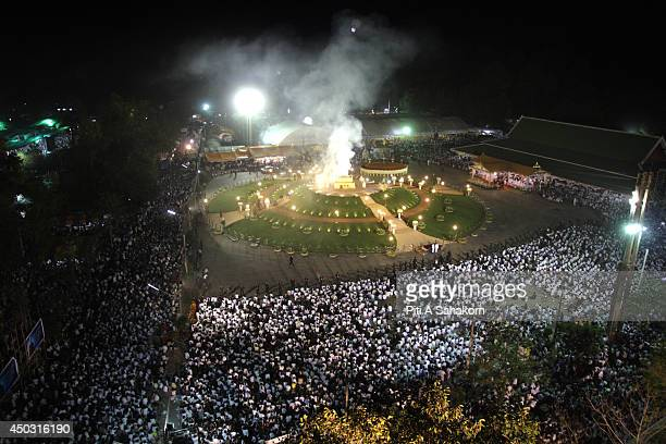 The cremation ceremony of Luangta Maha Bua at the Wat Pa Ban Tad forest temple in Udon Thani province Hundreds of thousands of mourners gathered in a...