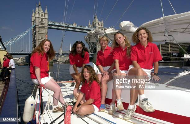 The crew members from the yacht Alphagraphics Philippa Richards Suzette Smith Asia Pajkowska Helena Darvelid Carol Archer and Frederique Brule in...