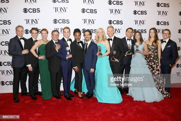 The crew of 'Dear Evan Hanson' winner of the award for Best Musical for Dear Evan Hanson poses at the 71st Annual Tony Awards in the press room at...