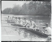 The crew of Groton They are cox Hornblower stroke Franklin D Roosevelt Jr Number 7 Osborn 6 Gardiner 5 BSloan 4 Eyer 3 Carpenter 2 Danielson and bow...