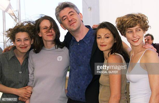 The crew of 'Nos vies heureuses' French actress Sarah Grapin French actress Marie Payen French director Jacques Maillot French actress Camille Japy...
