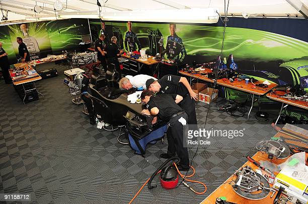 The crew of the Patron Highcroft Racing Acura race team build a new car following a crash which destroyed their primary race car during practice for...